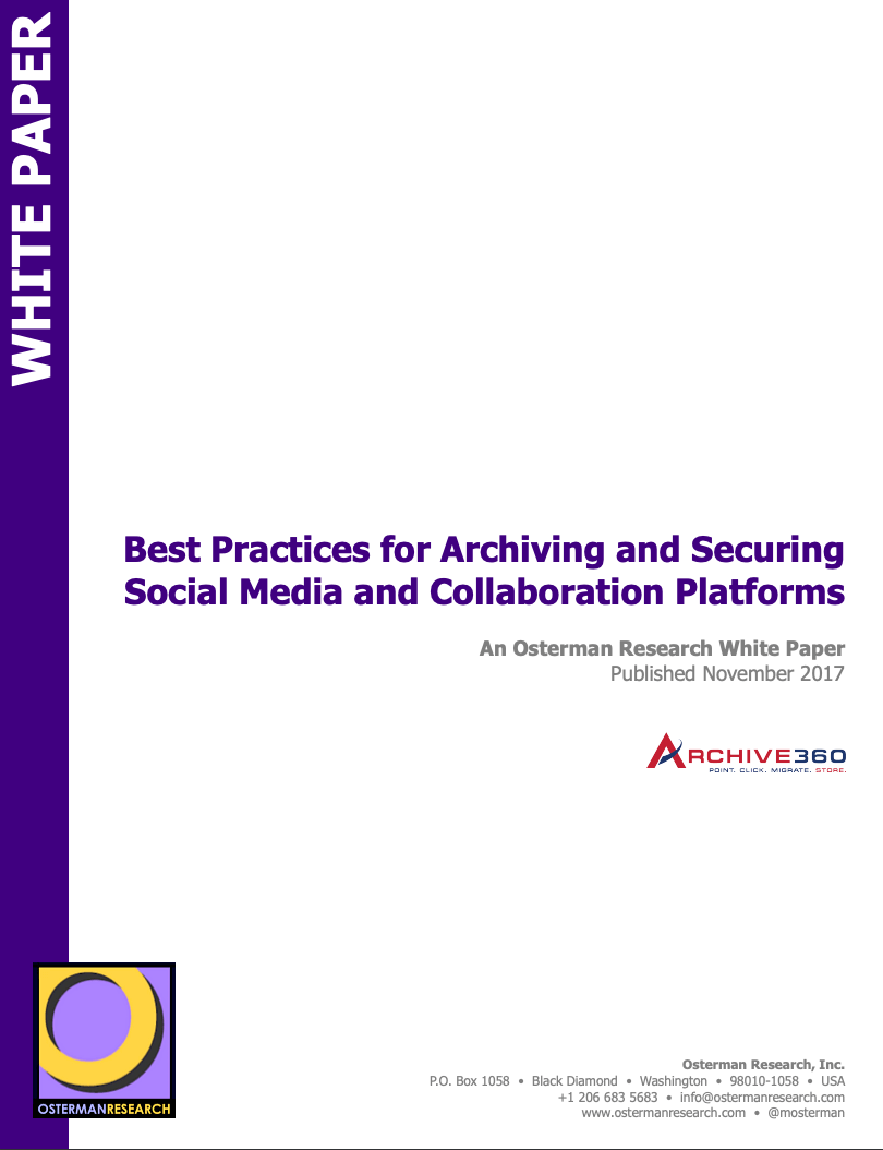 Best Practices for Archving and Securing Social Media and Collaboration Platforms_Image