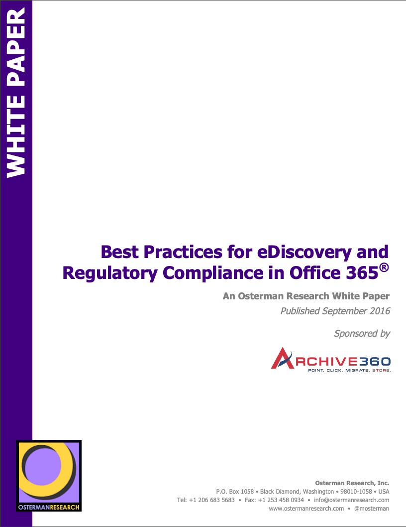 Best Practices for eDiscovery and Regulatory Compliance in Office 365®_Image