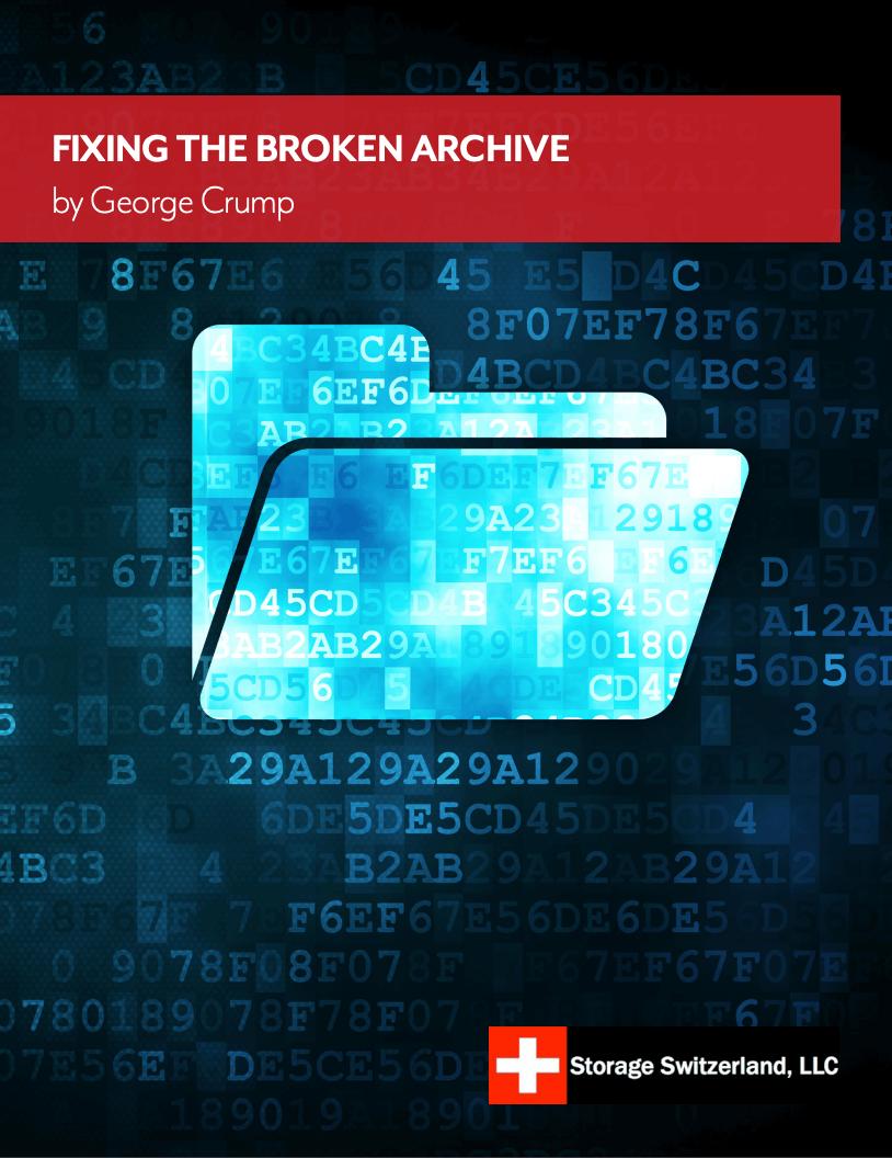 Storage Switzerland LLC Project Spotlight - Breaking the Archive Dead End_Image