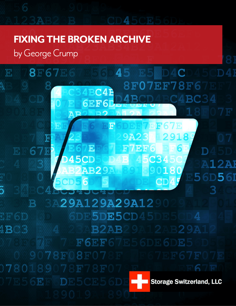 Storage Switzerland LLC Project Spotlight - Breaking the Archive Dead End_Image