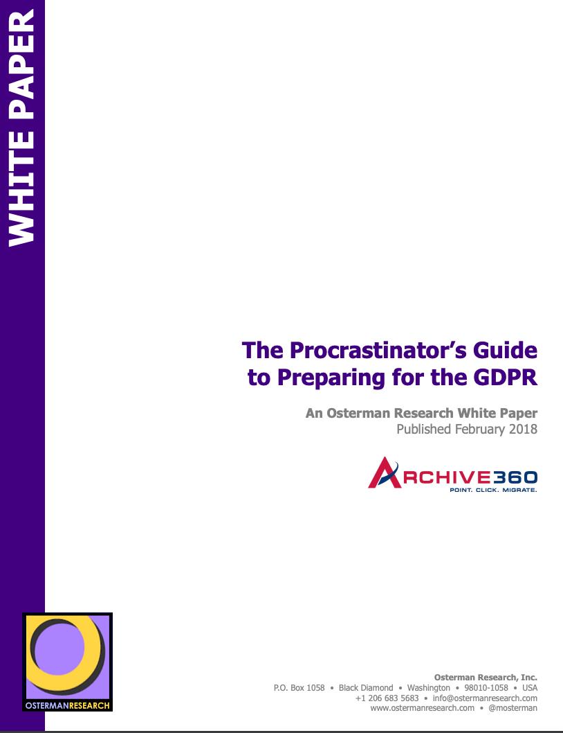 The Procrastinators Guide to Preparing for GDPR_Image