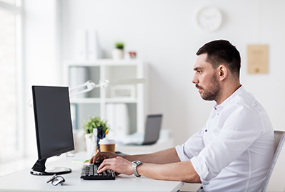 man working on archive migration 2
