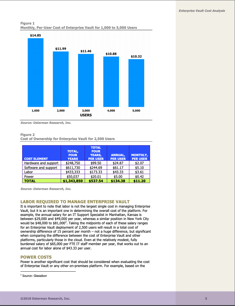Osterman_Enterprise Vault Cost2