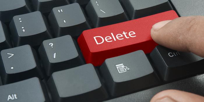 delete data-min